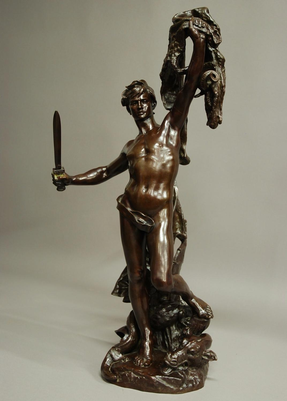 Large bronze 'Jason and the Golden Fleece'