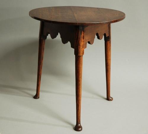 Late 18th century oak & ash cricket table