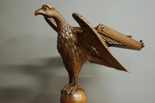 Finely carved oak eagle lecturn