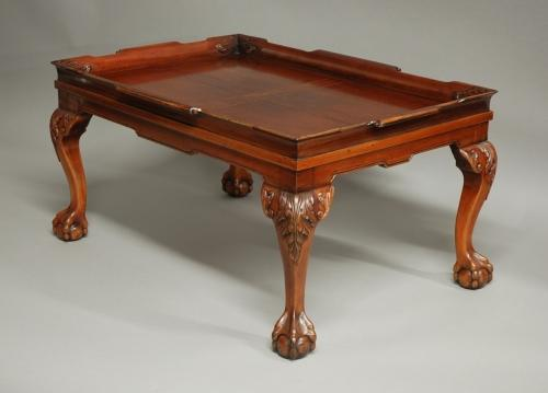 Mahogany tray top coffee table