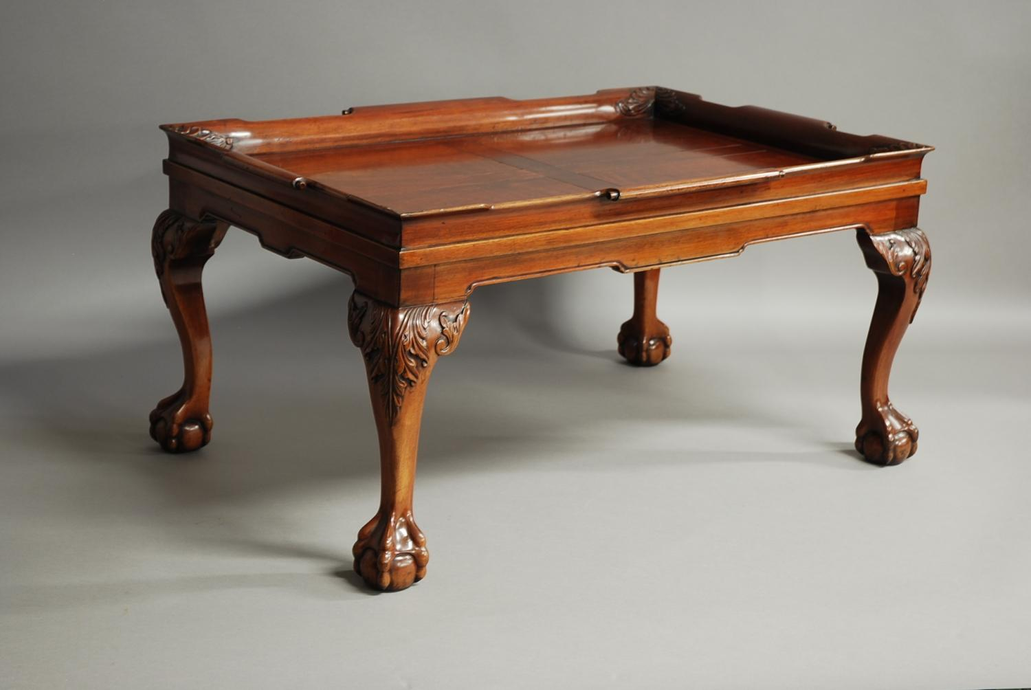 Mahogany tray top coffee table in sold archive for Trays on coffee tables