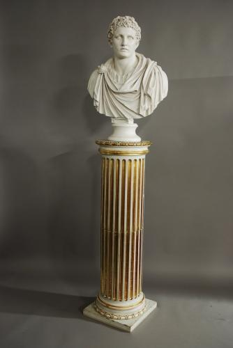 Classical style carved wooden column