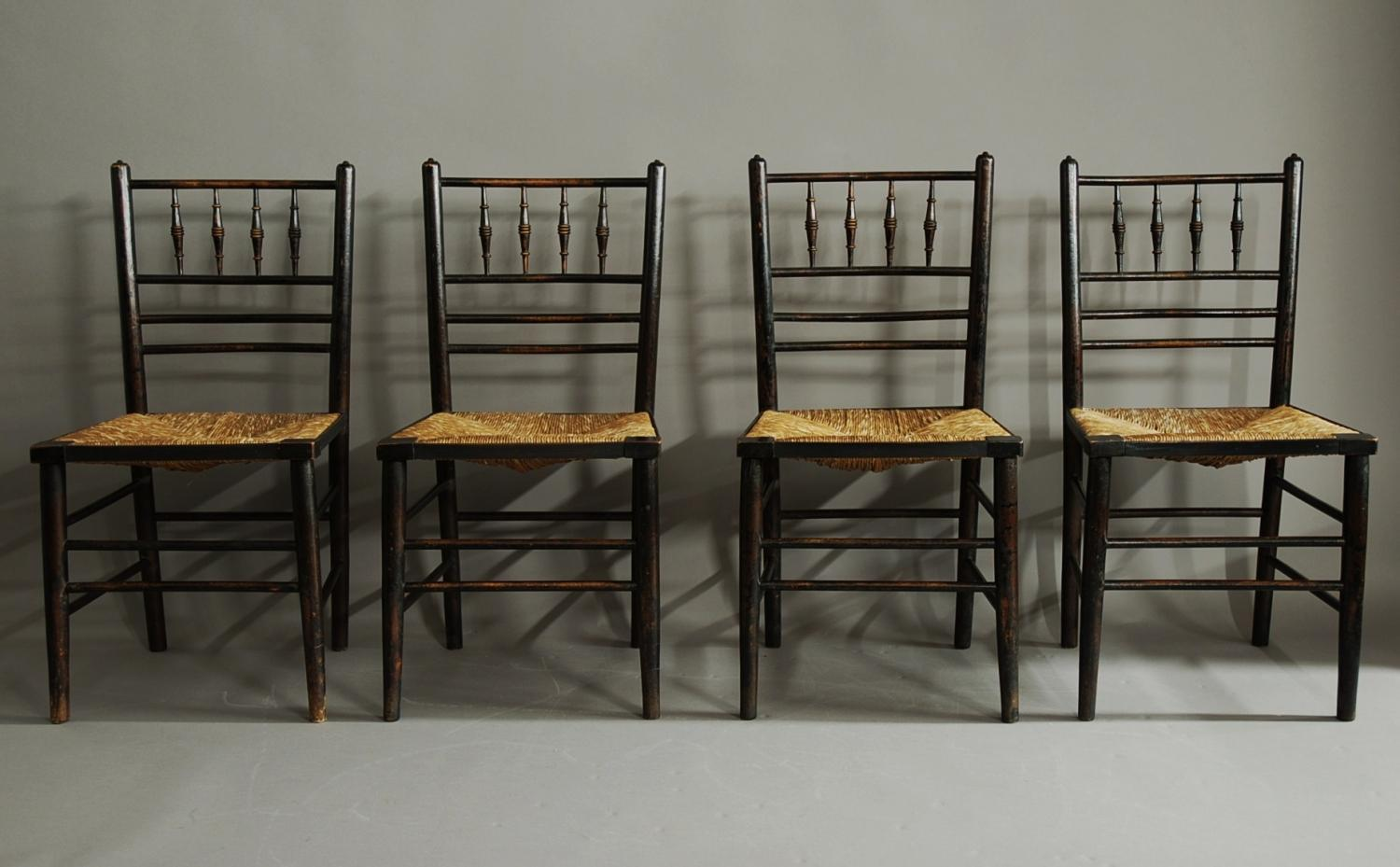 Set Of Six Morris Co Sussex Chairs In SOLD ARCHIVE - William morris chairs