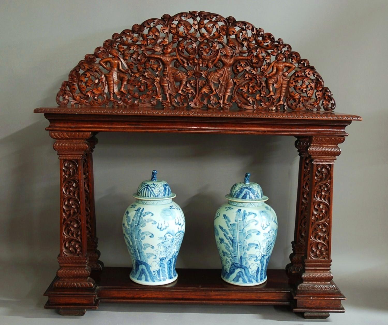 Fine quality teak Burmese altar table