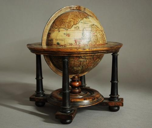 Edwardian terrestrial table globe