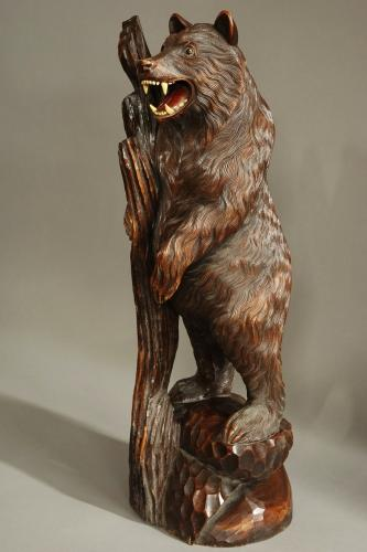 Finely carved wooden Black Forest bear