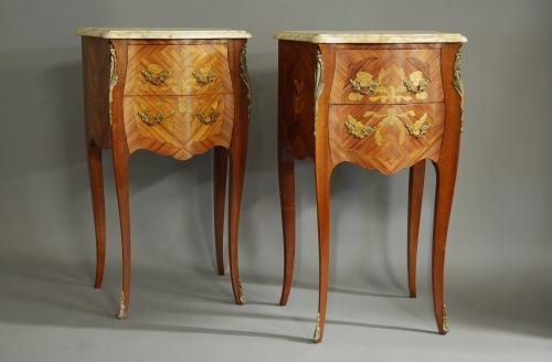 Pair Kingwood bedside commodes