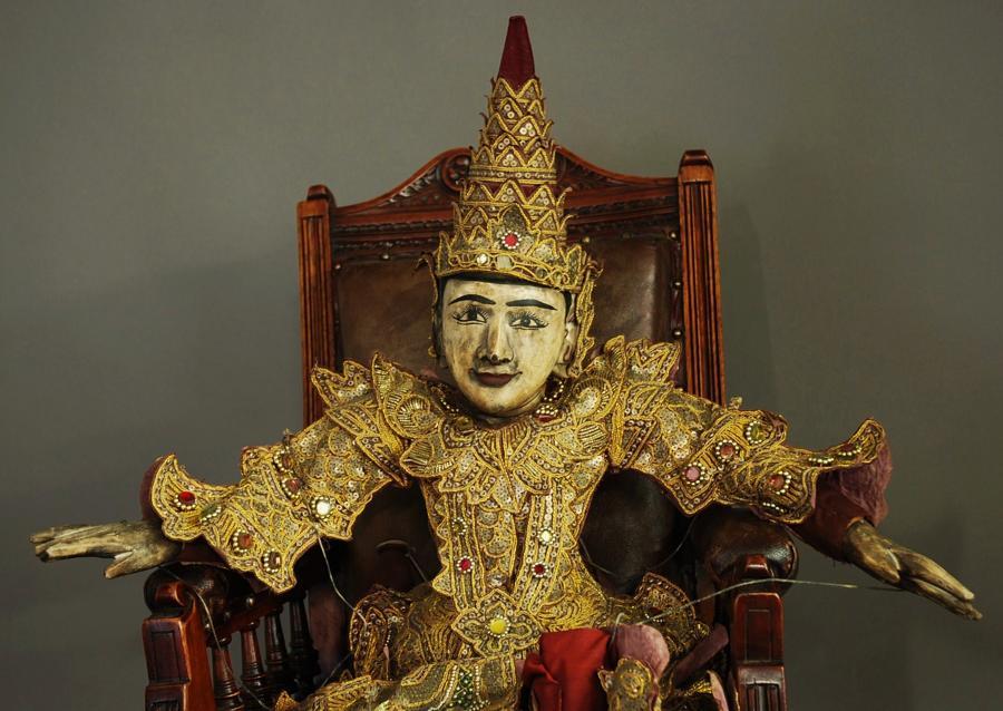 Highly decorative Burmese marionette