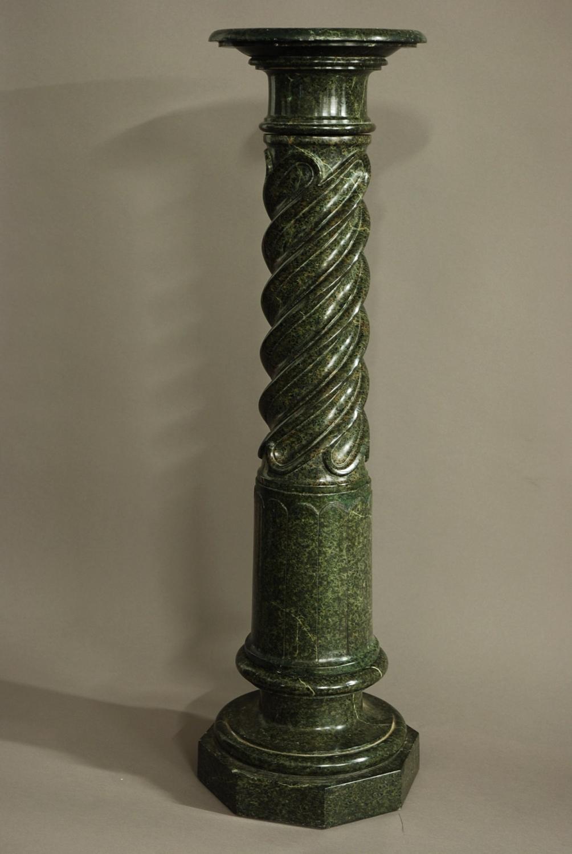French 19th century green serpentine column