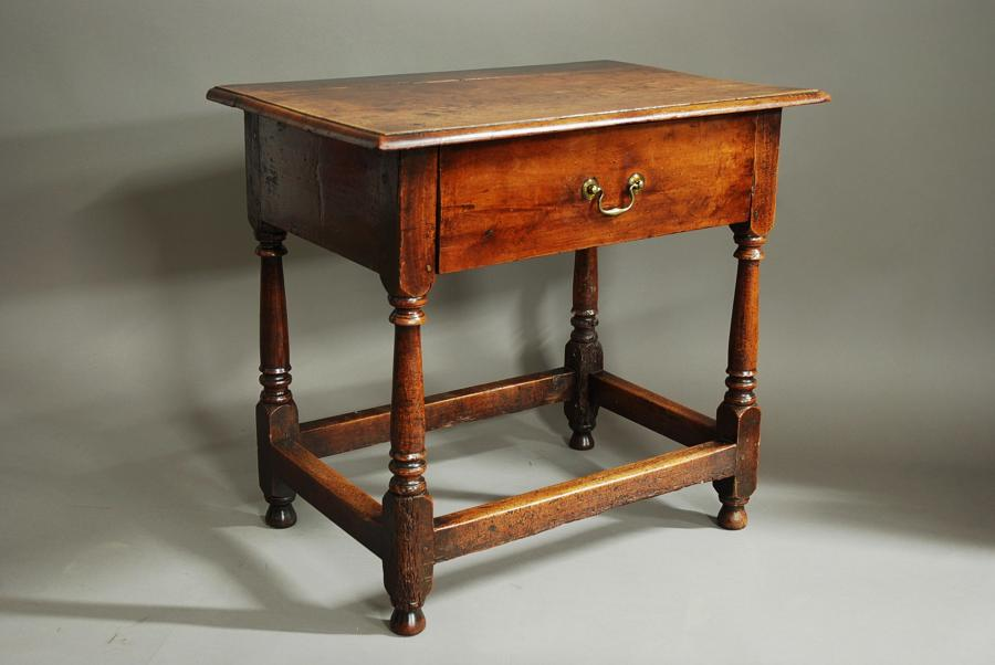 18th century cherry wood joined side table