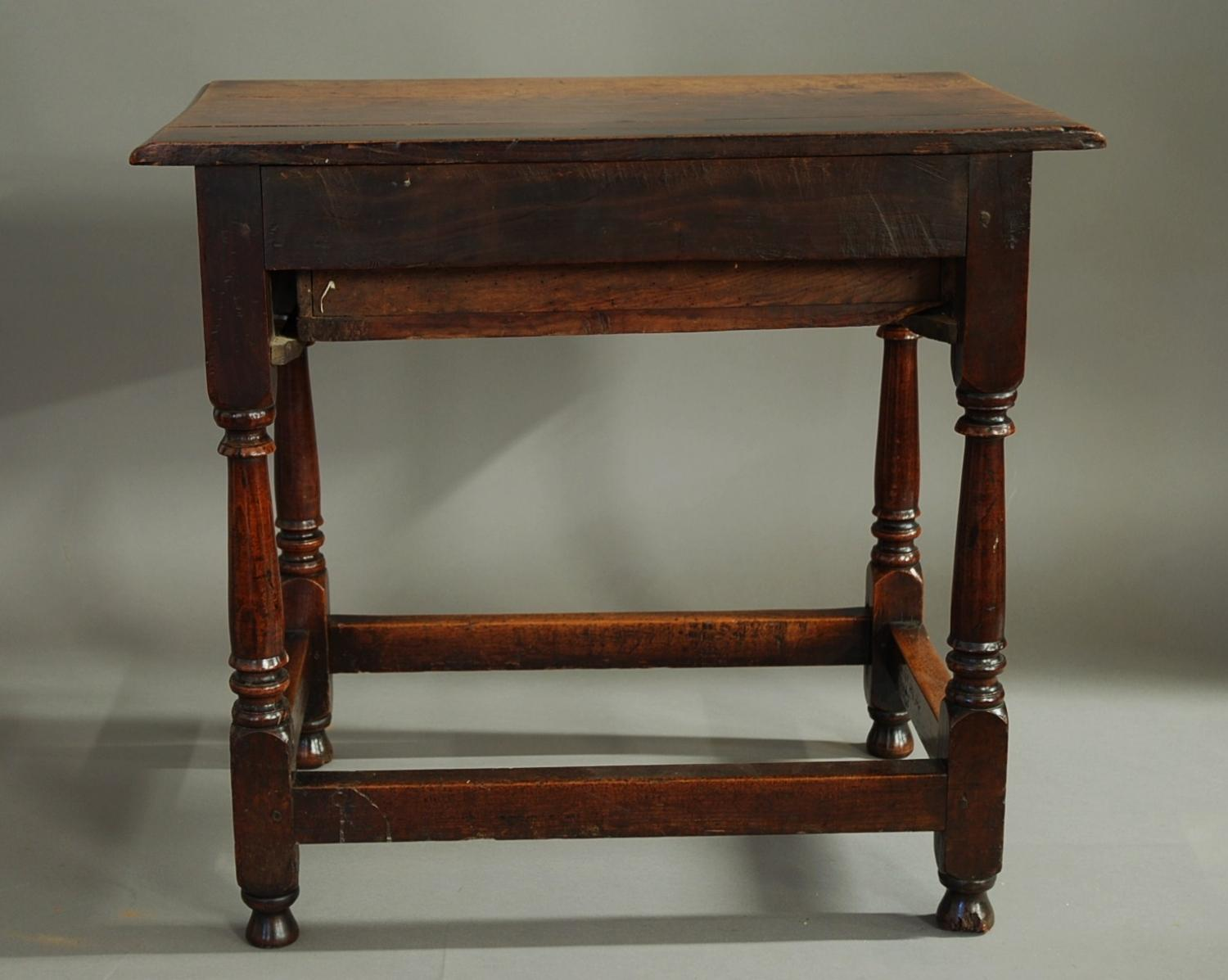 18th century cherry wood joined side table in tables for Cherry side table