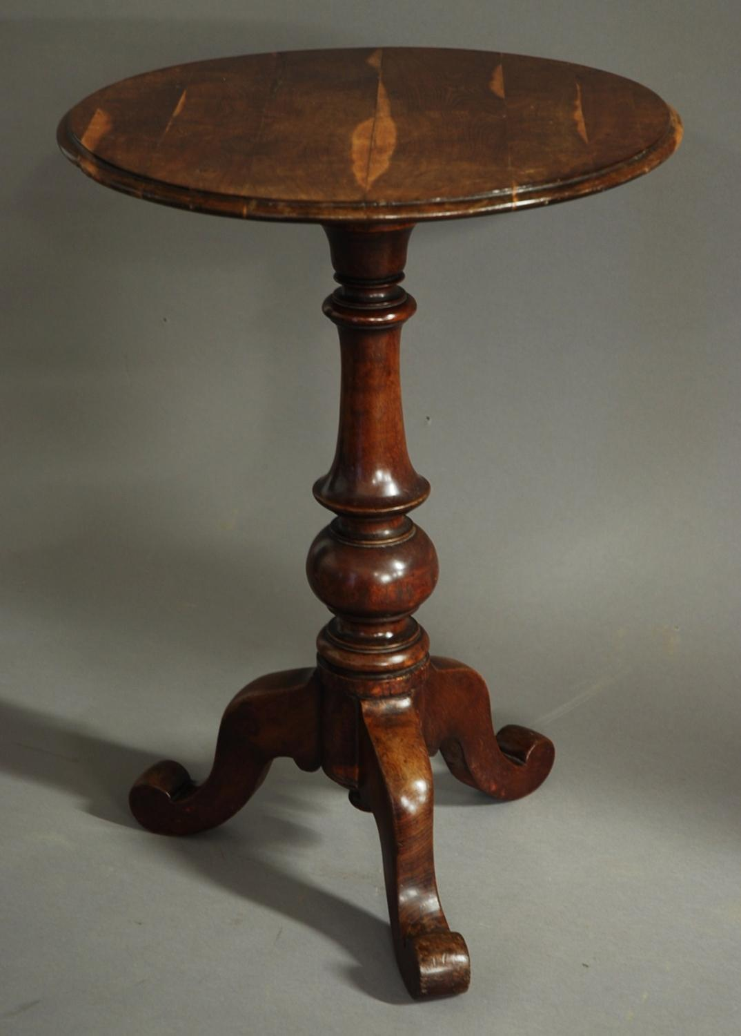 19thc mulberry tripod occasional table