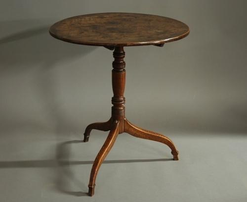 18thc oak & ash tripod occasional table