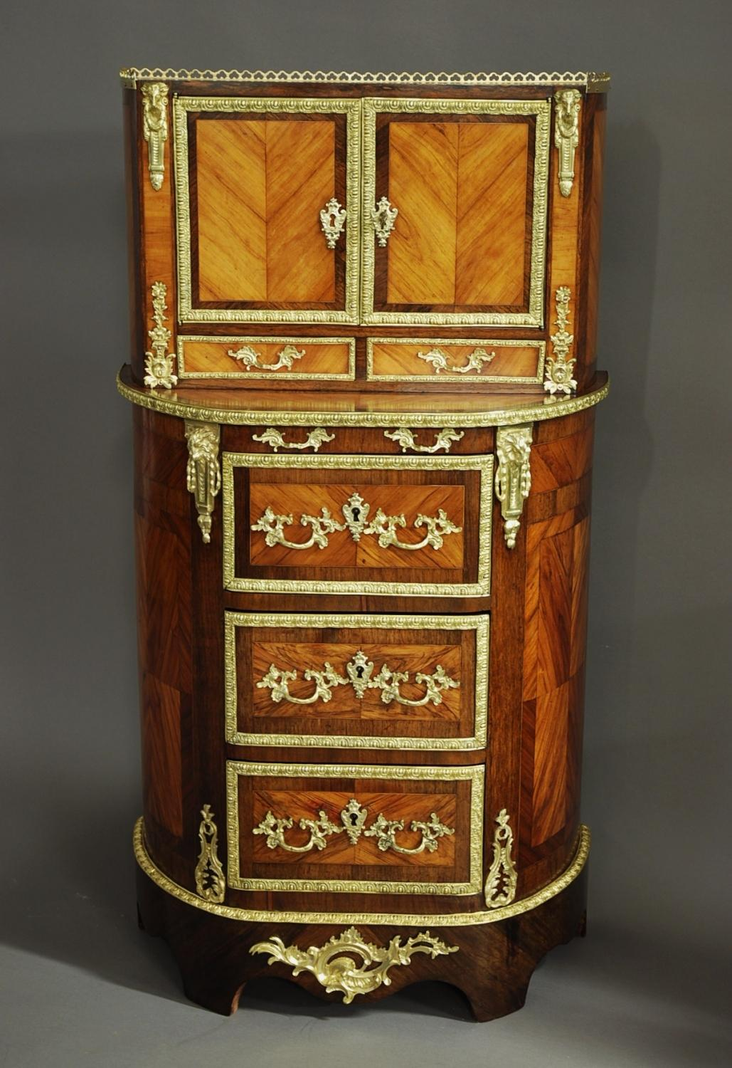 Fine quality French 19thc ladies cabinet