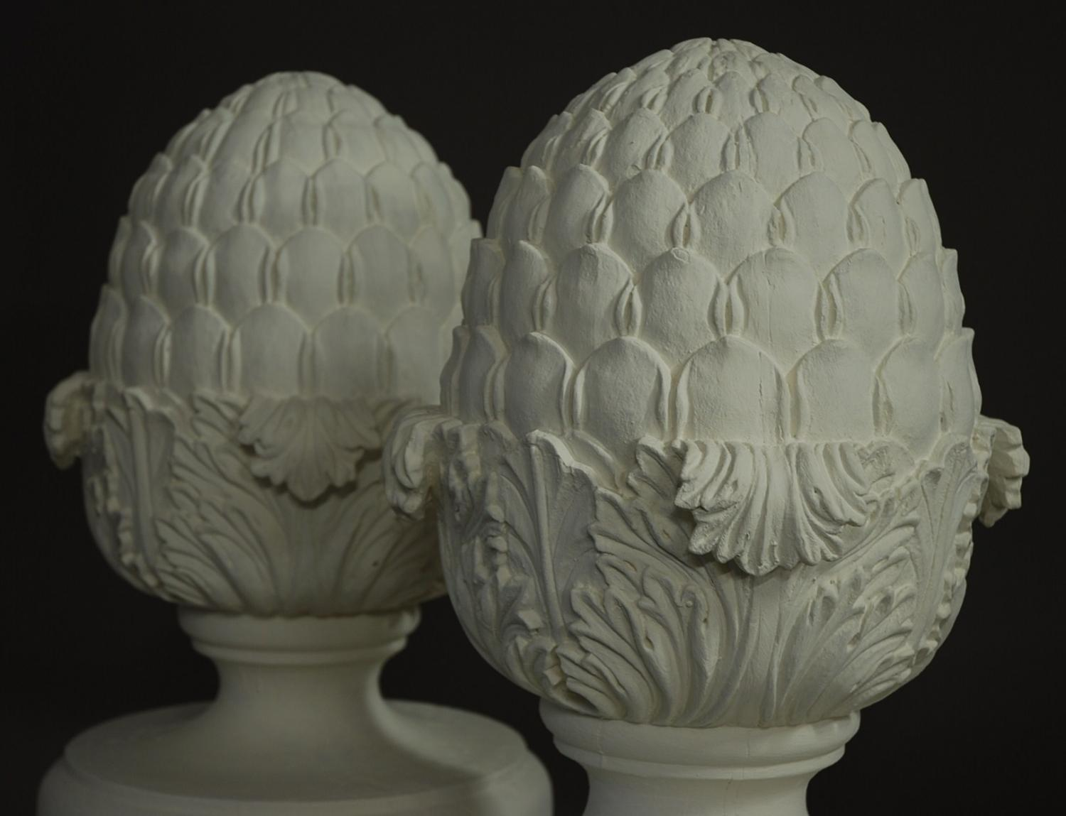 Favorite Set of 6 decorative wooden pineapple finials in SOLD ARCHIVE GJ64