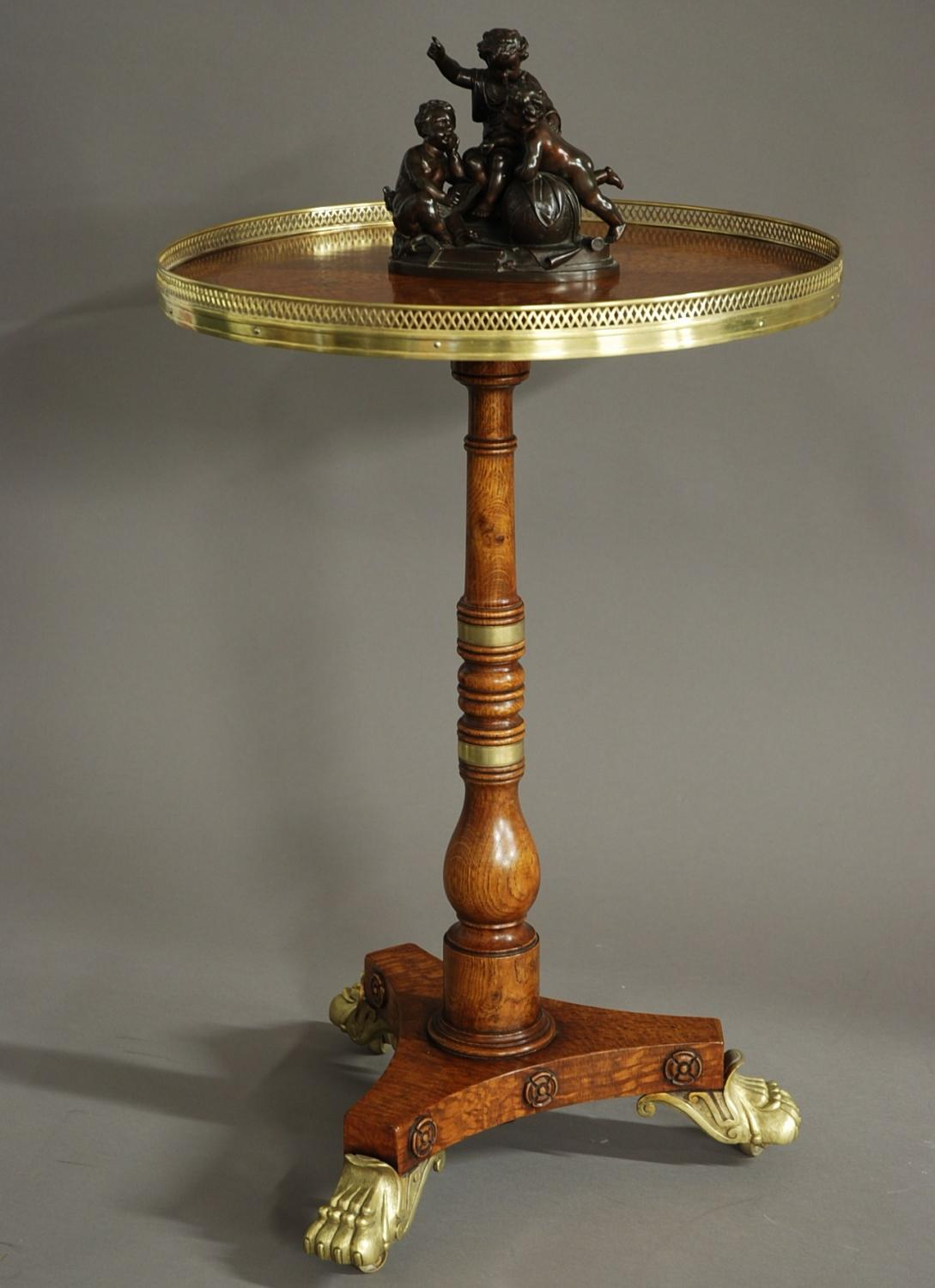 19thc oak occasional table of fine quality