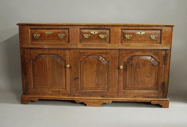 18thc oak dresser base of superb patina