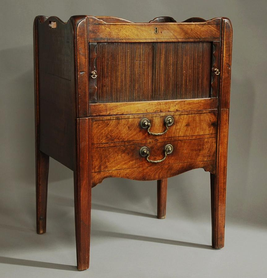 18th century mahogany night table