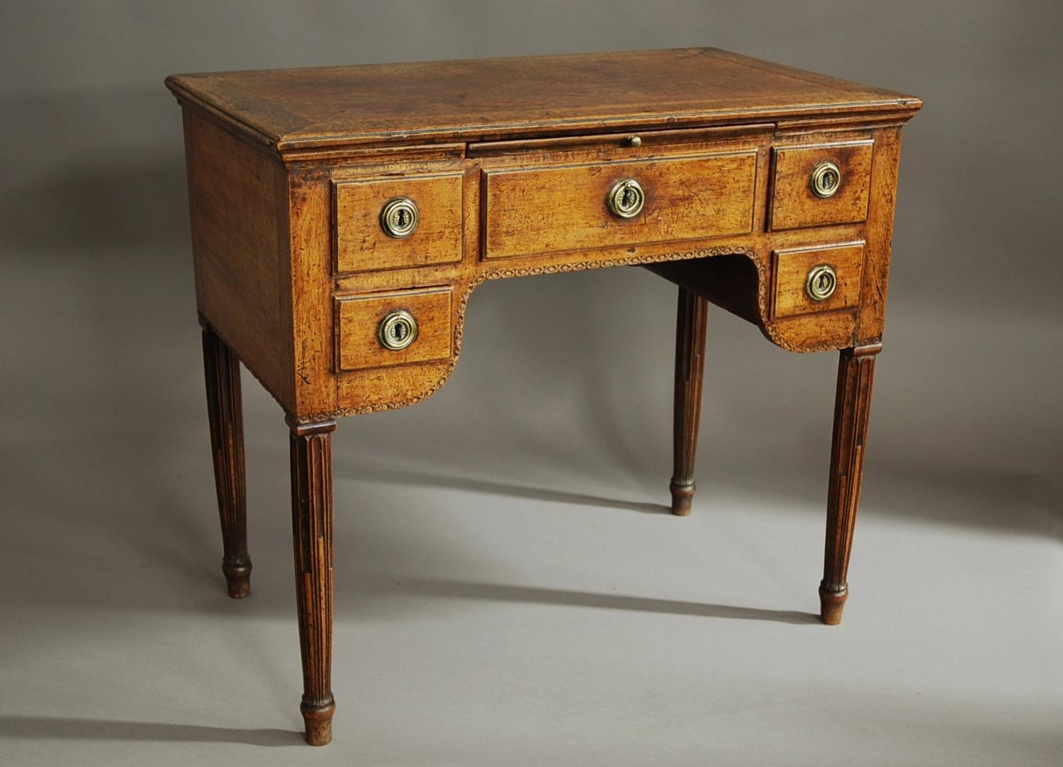 18th century Continental walnut desk/table