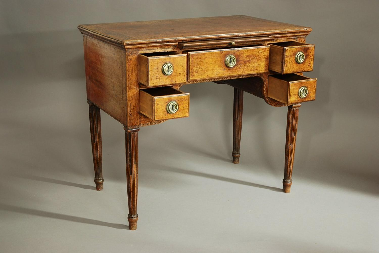 18th century continental walnut desk table in sold archive for Table th width