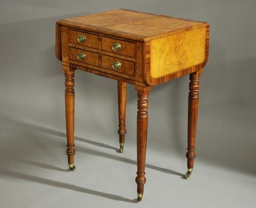 19thc burr oak work table of superb patina