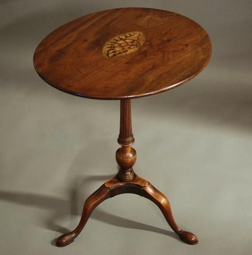 18th century tripod table of oval form