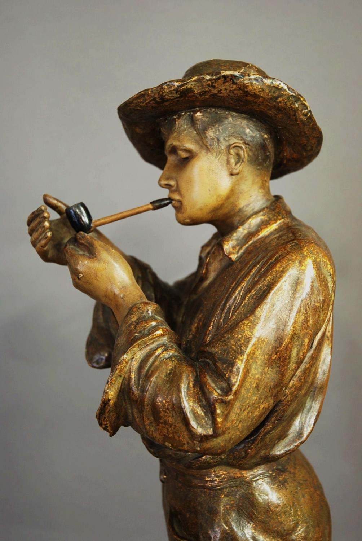 Goldscheider Slip Cast Figure Of Gaucho In Ceramics