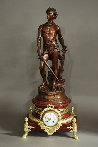 French 19thc sculptural table clock