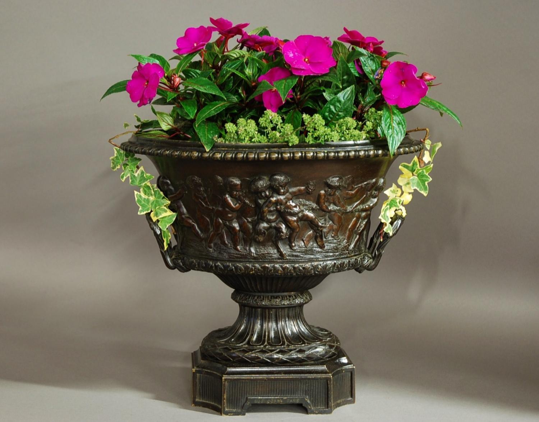 19thc bronze vase by Eugene Cornu of Paris
