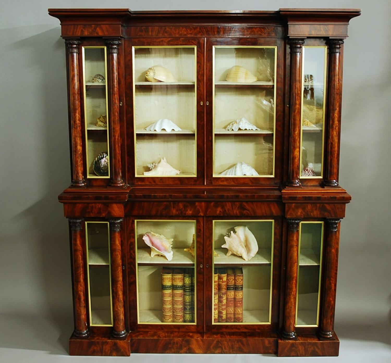 Superb quality William IV mahogany bookcase