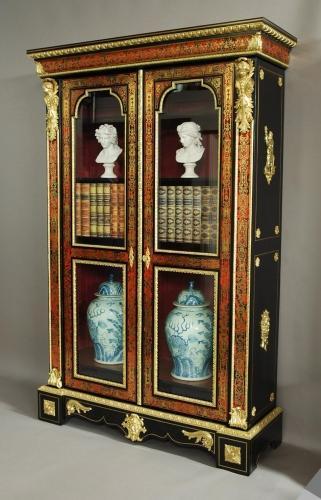 Superb Napoleon III boulle bibliotheque