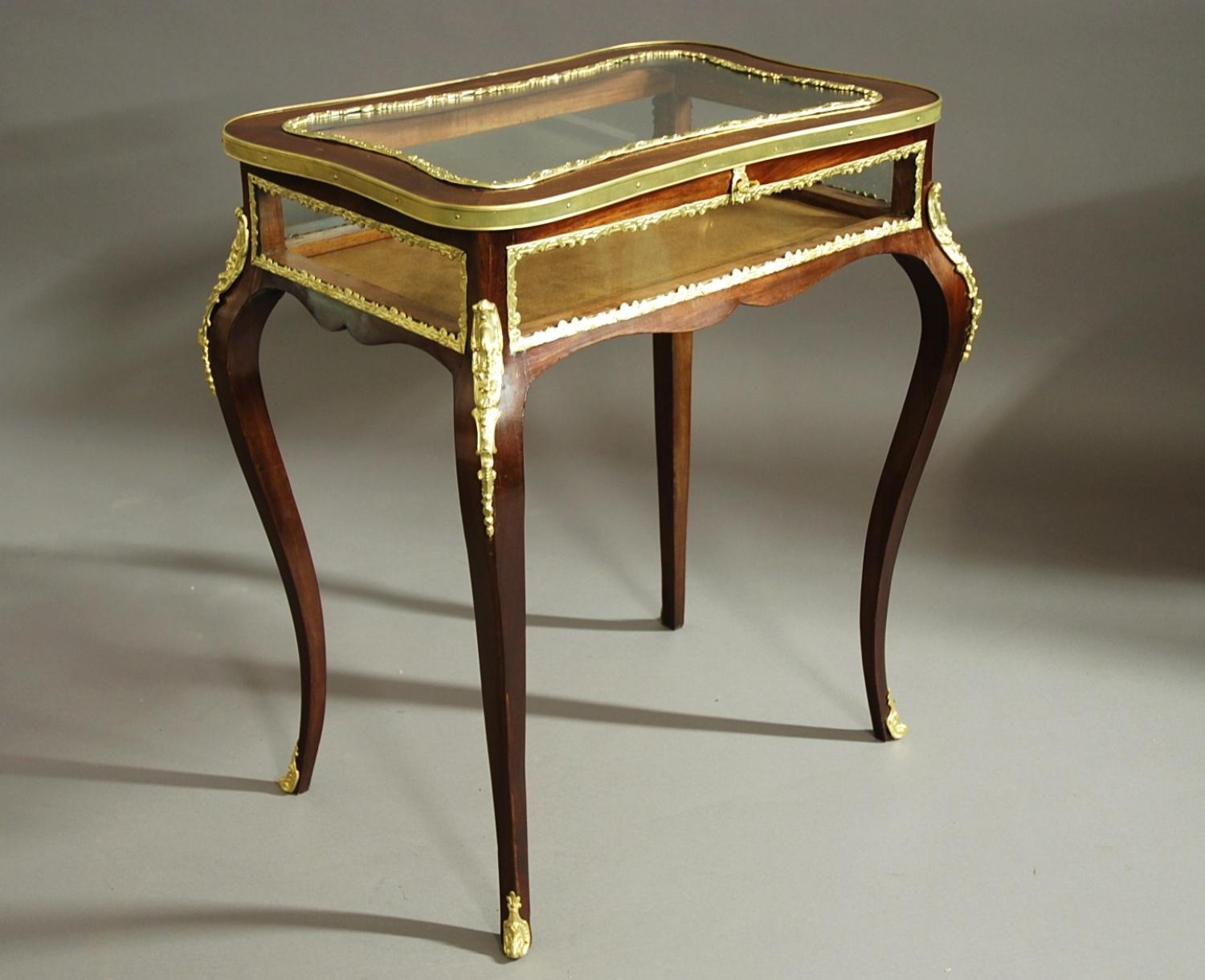 French late 19thc mahogany bijouterie table