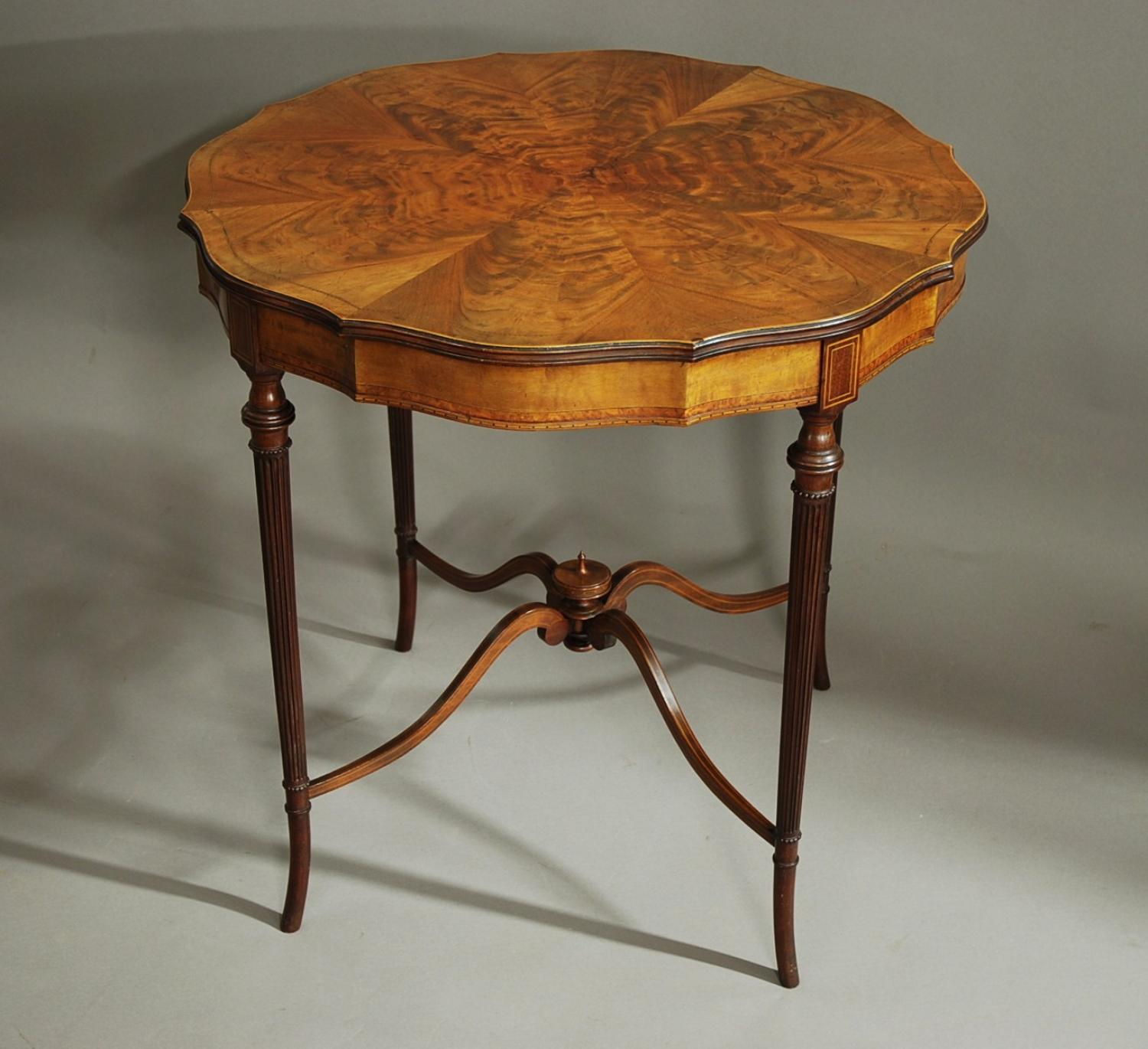 Edwardian fine quality mahogany centre table
