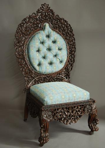 Superb quality Anglo Indian rosewood chair