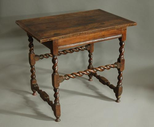 Late 17th century walnut table