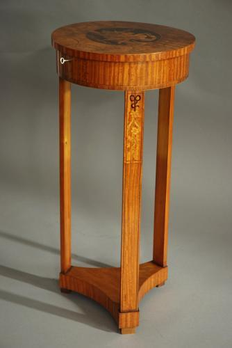 Continental satinwood & marquetry work table