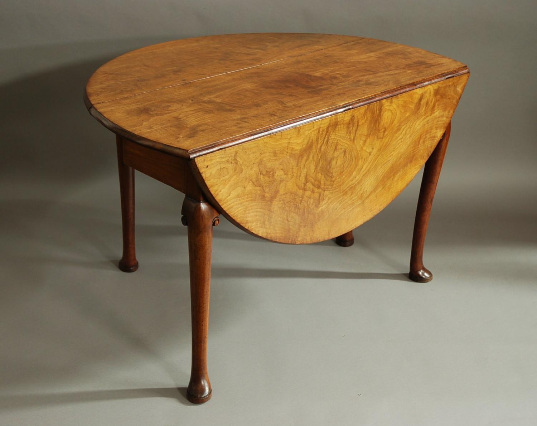 18thc well figured mahogany pad foot table