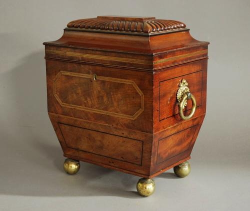 Superb Regency sarcophagus stationary box