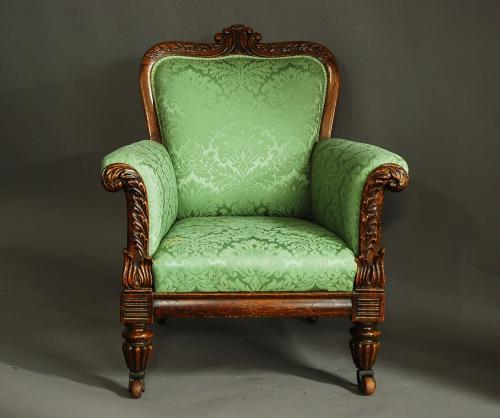 William IVth simulated rosewood armchair