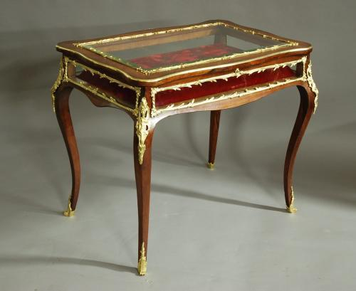 English 19thc rosewood bijouterie table
