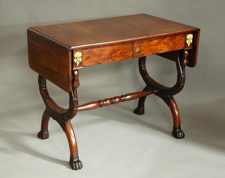 Early 19thc French Empire mahogany sofa table