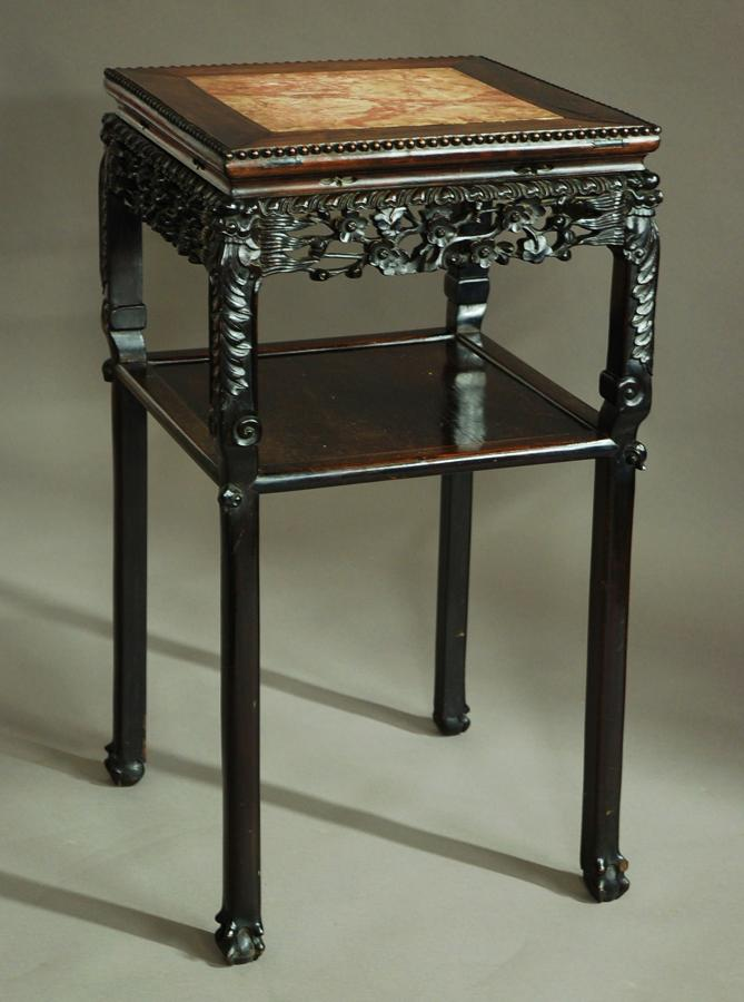 19th century square Chinese pot stand