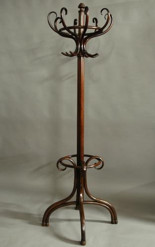 Edwardian bentwood hat & coat stand by Thonet