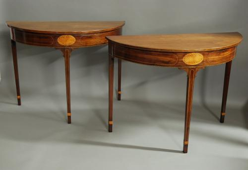 Pair of 18th century mahogany console tables
