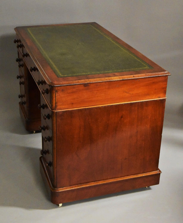 Late 19thc small mahogany pedestal desk in desks writing for Table vs desk