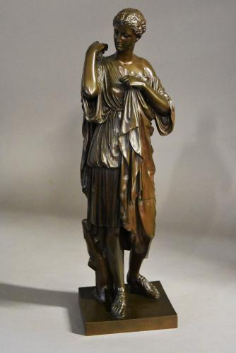 French late 19thc bronze of Atemis of Gabii