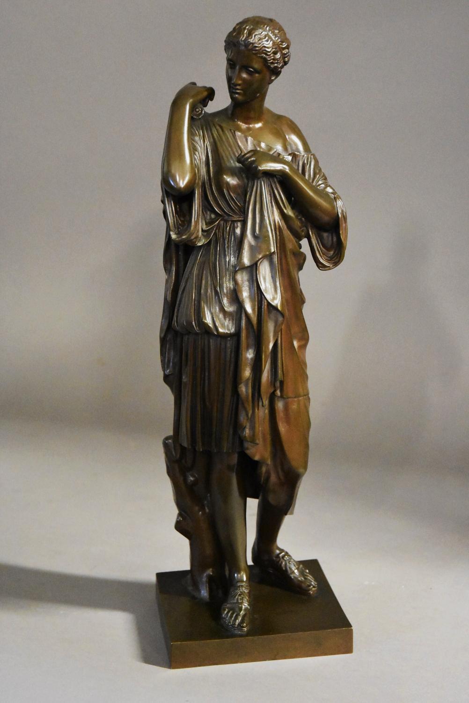 French late 19thc bronze of Atemis of Gabii