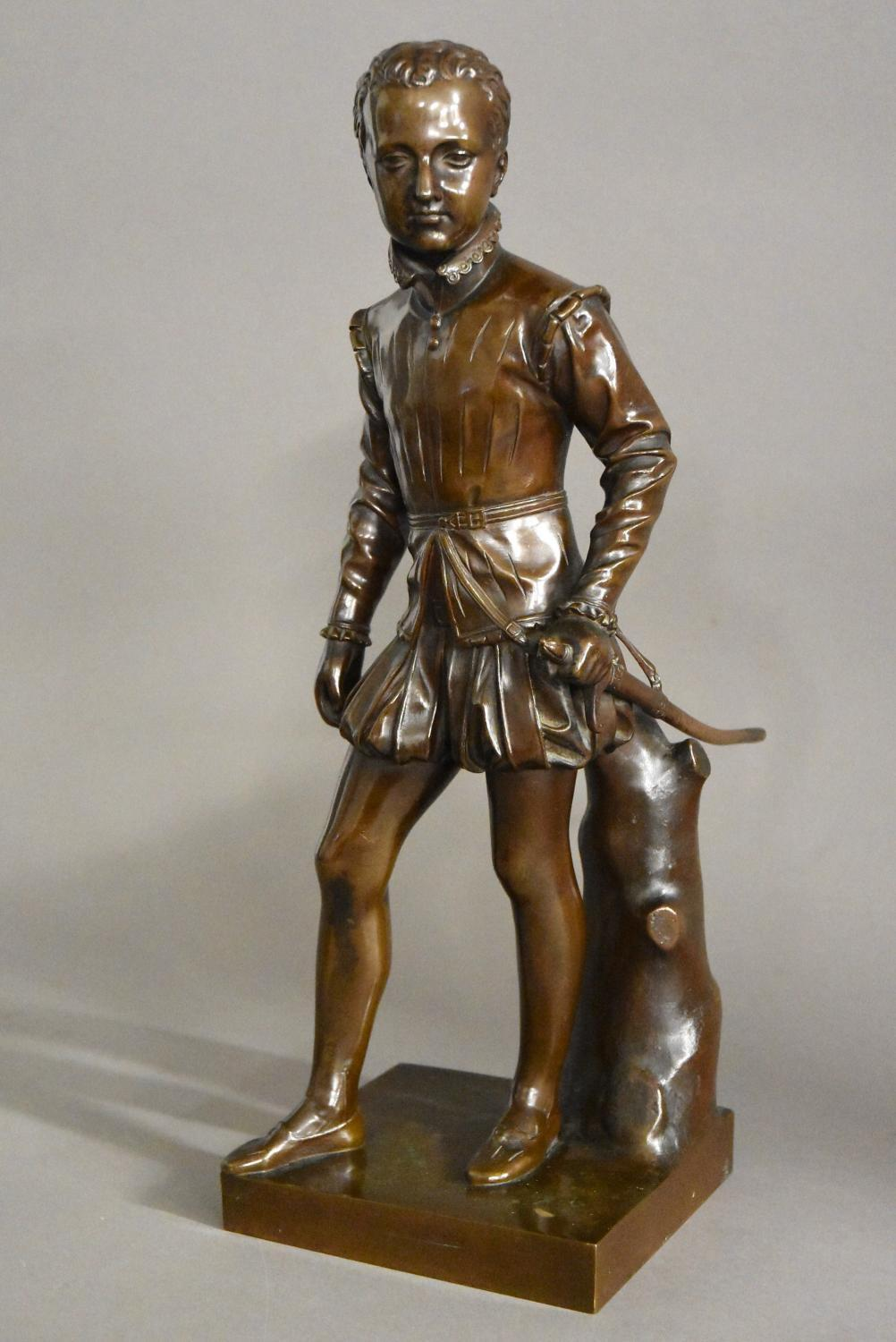 19thc bronze of young Henry IVth of France