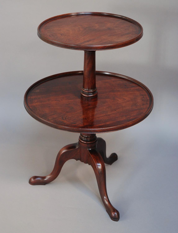 Late 18th century mahogany dumb waiter