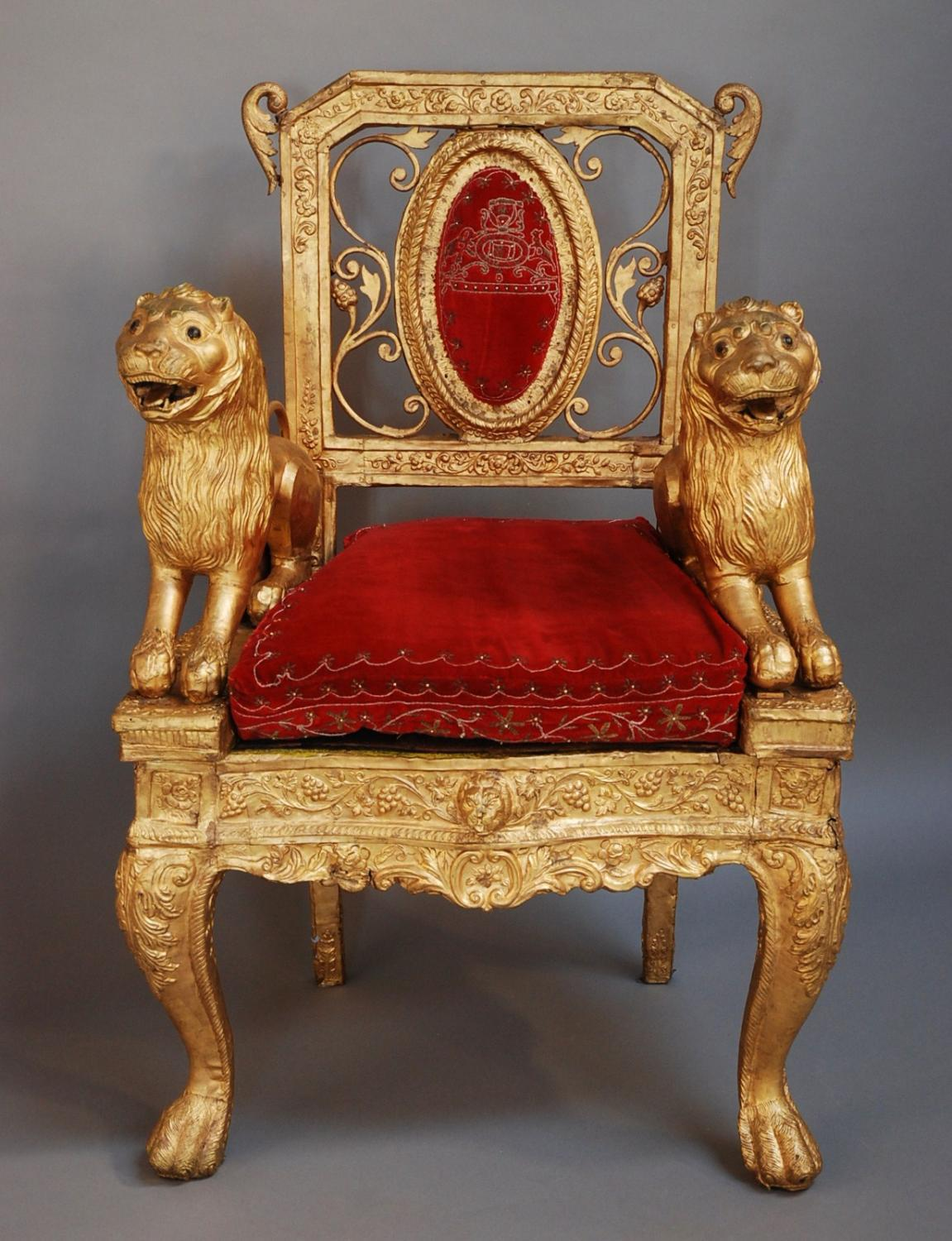 Mid/late 19th century Indian throne chair